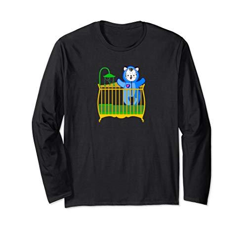 Baby White Tiger in Crib ABDL Age Play Long Sleeve T-Shirt -  NaughtyBoyz ABDL, Pup & Fetish Lifestyle T Shirts