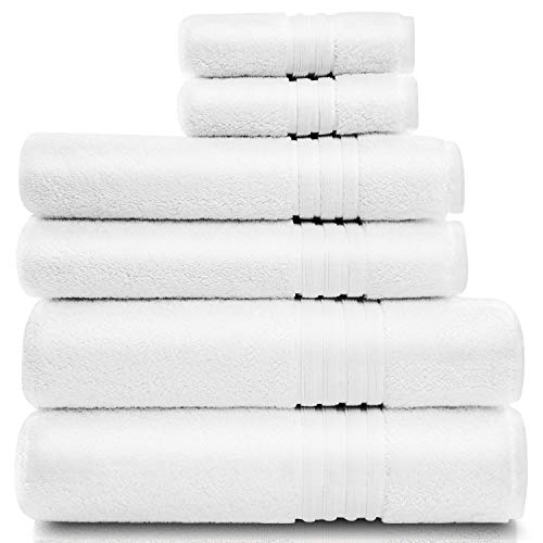 Cotwell Luxury White Towels Set for Bathroom with Hand Towels and Face Towels – 700gsm Premium Hotel & Spa Quality – 100…