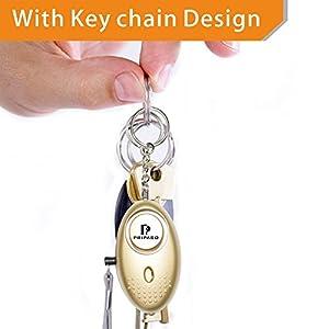 Emergency Security Alarm Keychain with LED Flashlight - keychain