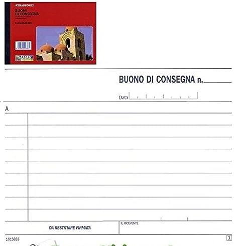 Buffetti Blocco registro 12 mesi modulo autoricalcante in duplice copia corrispettivi mensili 215X297mm 5 Pezzi
