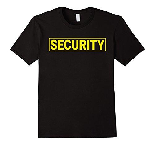 Mens Security Guard T-Shirt (Uniform or Halloween Costume) Large Black