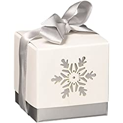 "Kate Aspen ""Winter Dreams"" Laser Cut Snowflake Favor Box, Set of 24"