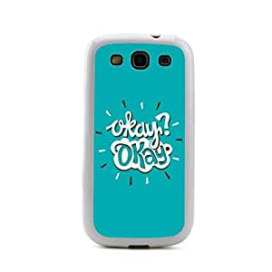 New - Pattern 8 Typograph Epigram Aphorism Series 2 Embossed Design White Bumper Plastic+TPU Case Cover for Samsung Galaxy S3 SIII I9300