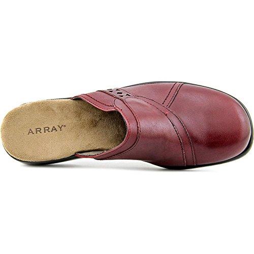 Array Womens Chorus Leather Closed Toe Casual Slide Sandals Wine a7md2UAUI