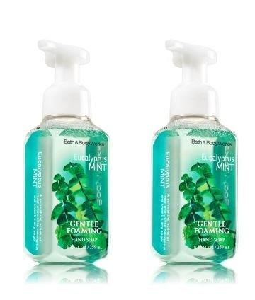 Bain & œuvres doux moussant savon pour les mains le corps 8,75 oz. Eucalyptus, menthe (Pack de 2)