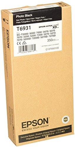 Photo Black Ultra Chrome XD Ink Cartridge, 350 ml () - Epson T693100
