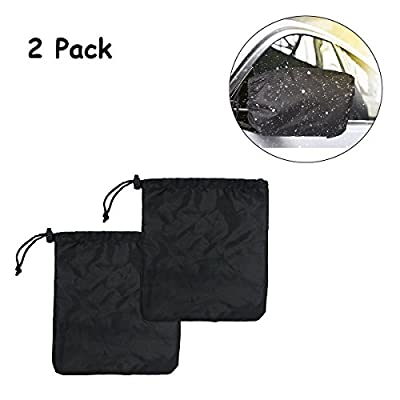 Car Side Mirror Snow Covers Set,Luony Car Mirror Covers Protect Auto Exterior Rear View Mirrors from Snow, Ice & Frost
