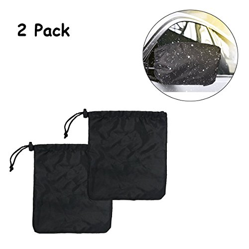 Car Side Mirror Snow Covers Set,Auony Car Mirror Covers Protect Auto Exterior Rear View Mirrors from Snow, Ice & Frost