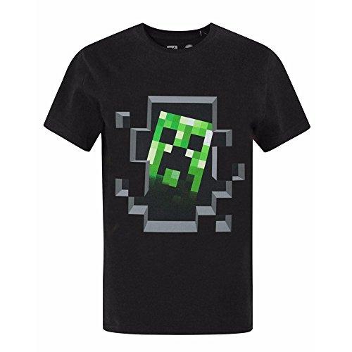 Minecraft Maglietta Con Corta Grigio Bambino Ufficiale Manica Creeper rrwqCOxv