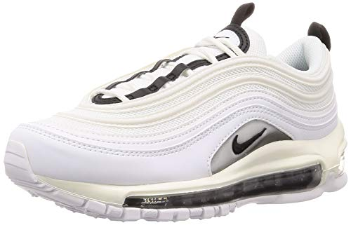 Nike Women's Air Max 97 Shoes (9.5, White/White/Black)