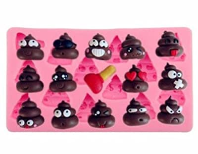 Poop Silicone Emoji Mold Chocolate Candy Making Crafts Ice Cube Cake Fondant