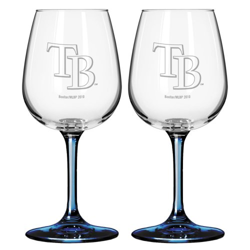 Boelter Brands MLB Satin Etch 2-Ounce Wine Glass (Pack of 2)