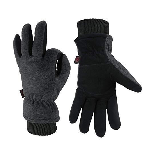ozero winter lederhandschuhe thermo handschuhe f r herren. Black Bedroom Furniture Sets. Home Design Ideas