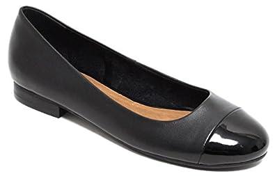 Damen Leder Ballerinas, schwarz, 40