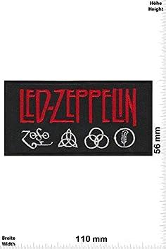 Led Zeppelin Silver Red parche patch bordado con logotipo para planchar de hierro en apliques
