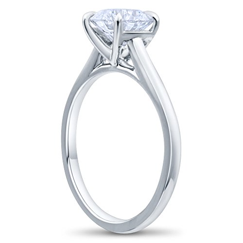 Decatur Diamond District 14K White or Yellow Solid gold Solitaire Engagement Rings for women
