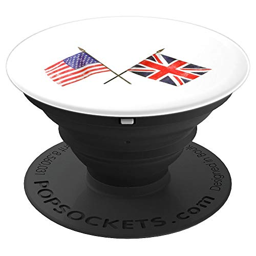 Best Friend Usa Flag - USA and UK Flags Friends Allies Royal Wedding Mobile - PopSockets Grip and Stand for Phones and Tablets