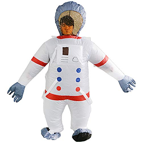 HUAYUARTS Men's Inflatable Costume Boys Giant Blow up Party Halloween Christmas Space Suit Cosplay