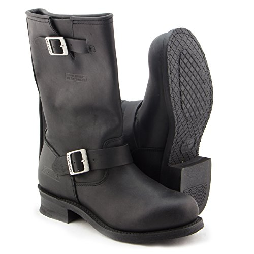 Mens Black Engineer Boots - 7