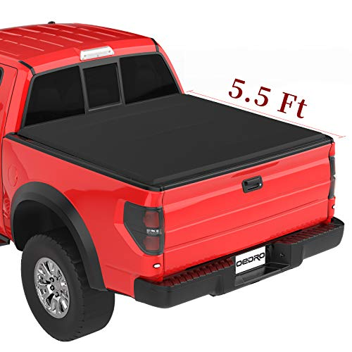 Oedro Soft Tri Fold Truck Bed Tonneau Cover On Top Compatible For 2015 2016 2017 2018 2019 2020 Ford F 150 F150 With 5 5ft Short Bed Styleside Buy Online In India At Desertcart