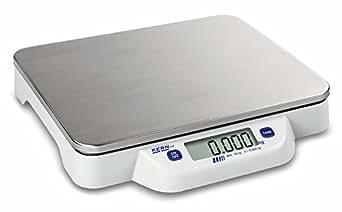 Balanza de mesa [Kern ECB 50K de 2N] plano, móvil, complicaciones, de pesaje de acero inoxidable Placa, rango de pesaje [Max]: 50kg, Lectura [D]: 20g