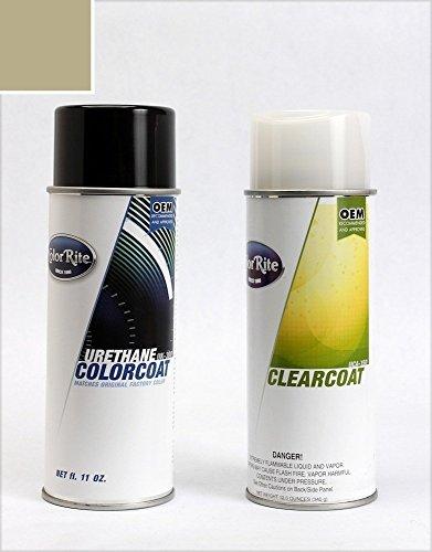 Light Titanium Aerosol - ColorRite Aerosol GMC Yukon Automotive Touch-up Paint - Light Titanium Gray (Interior) WA311N - Color+Clearcoat Package