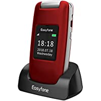 Easyfone Prime A1 3G Unlocked Senior Flip Cell Phone, Big...