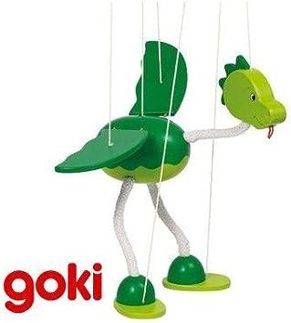 MARIONETA INFANTIL de hilos Goki Figura DRAGÓN de madera Juguete tradicional habilidad Niños +5 años