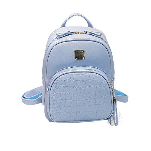 Ladies Backpacks, CieKen 2018 Hot Sale Fashion Luxury Mini Alligator Pattern Backpack Small Daypacks Purse For Girls and Women (Blue)