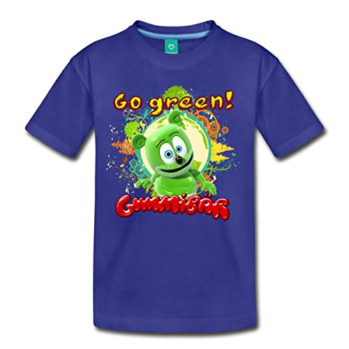 Dancing Green Bear - Spreadshirt Gummibär Go Green Gummy Bear Kids' Premium T-Shirt, Youth M, royal blue