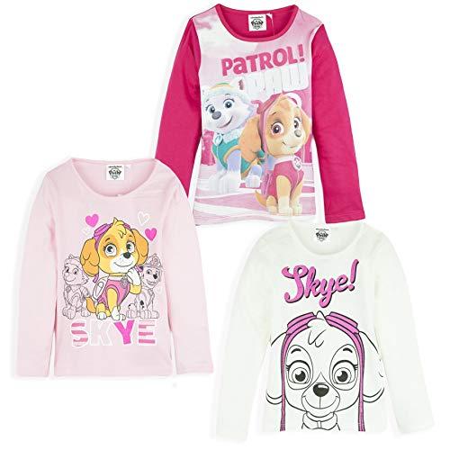 Paw Patrol Nickelodeon Girls Official Fluffy Hoodie Hooded Jumper Skye Everest Character 2-6 Years