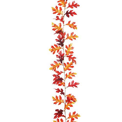 Oak Garland - Floristrywarehouse Autumn Artificial Oak Leaf Garland Red Brown 6ft Fall