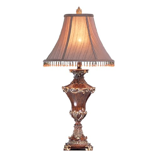 Gold Torchiere Lamp (OK LIGHTING OK-4171T 31-Inch H Resemble Wood Table Lamp)