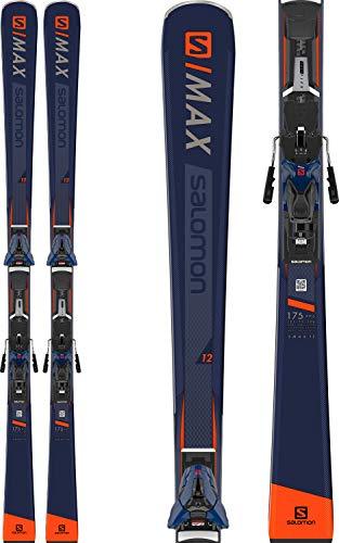Salomon S/Max 12 Skis w/ Z12 Walk Bindings Mens Sz 165cm Dark Blue/Orange