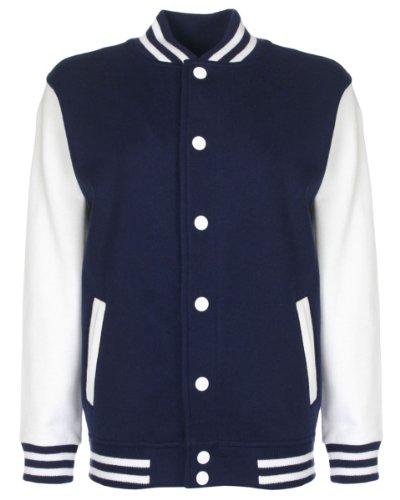fdm Junior/Childrens Big Boys Varsity Jacket (Contrast Sleeves) (11-13 years) -