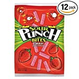 Sour Punch Bites Strawberry Bags 5OZ (Pack of 24)