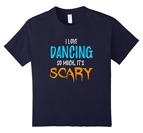 Belly Dancer Costume Ideas For Halloween (Kids I Love Dancing T-Shirt as Dancers Scary Halloween Gift 12 Navy)