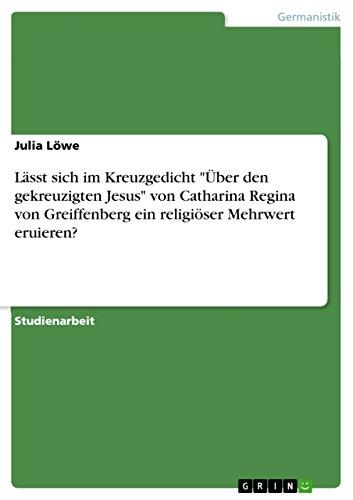 Amazoncom Lässt Sich Im Kreuzgedicht über Den Gekreuzigten Jesus