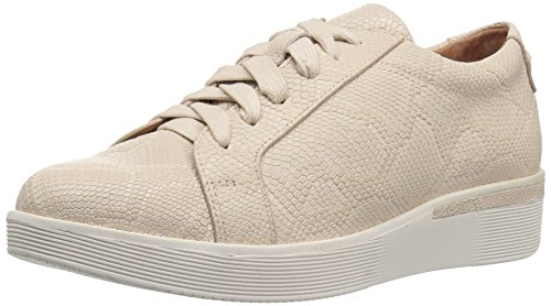 Gentle Souls by Kenneth Cole Women's HADDIE PLATFORM LACE-UP FASHION SNEAKER- EMBOSSED Shoe, nude, 6 M US