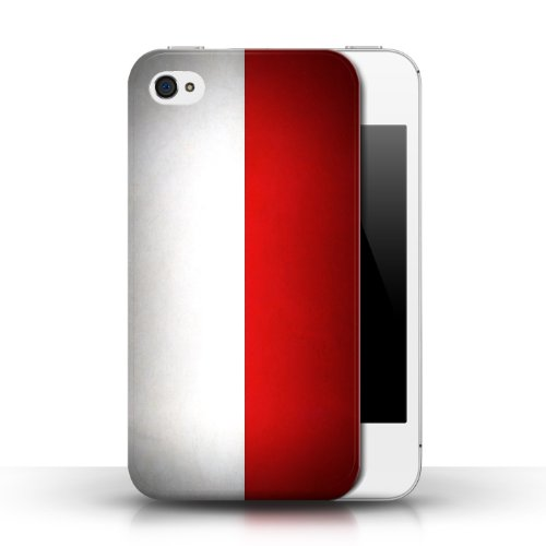 Etui / Coque pour Apple iPhone 4/4S / Pologne/polonais conception / Collection de Drapeau