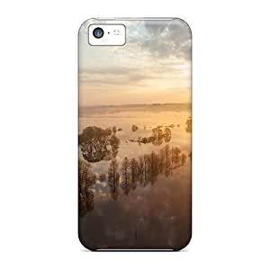 New Shockproof Protection Case Cover For Iphone 5c/ Sunset On Flooded Lscape Case Cover