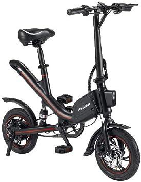 Amazon.com: ALIVER EcoWallet Bicicleta Eléctrica Plegable ...
