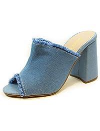 Tamanco Salto Alto Grosso Luiza Sobreira Jeans Claro Mod. 4004-2