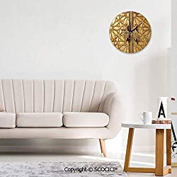 SCOCICI Home Wall Clock Main Golden Gates of Royal in Marrakesh Morocco Travel Silent Not Ticking Unique for Living Room Office School 10INCH