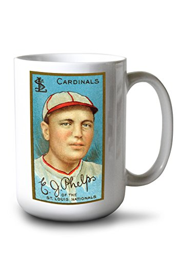 Lantern Press St. Louis Cardinals - Edward J. Phelps - Baseball Card (15oz White Ceramic Mug) ()