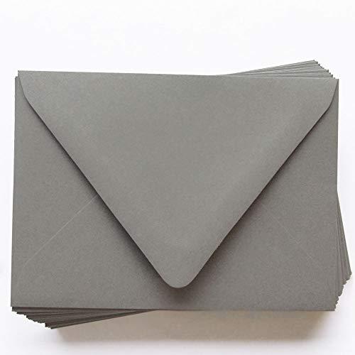 A2 Gmund Colors Matt Cobblestone Gray Envelopes - Euro Flap, 81T, 25 - 120gsm Matt
