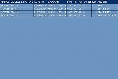 pour 211 214 216 1.1 1.4 1.6 HATCHBACK 59//75//103//112hp 1995-1999 ETS-EXHAUST 51701 Silenziatore marmitta Posteriore kit di montaggio