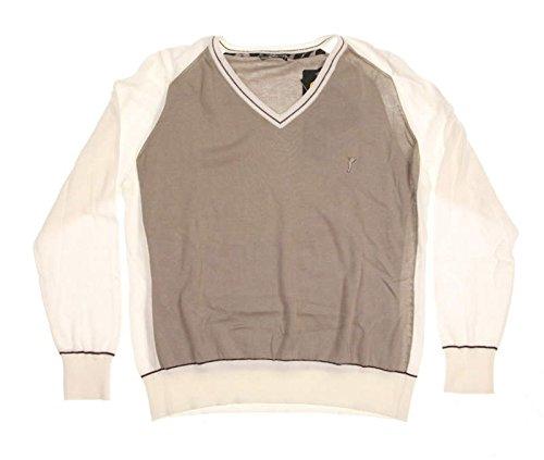 new-womens-golfino-sweater-v-neck-large-l-tan