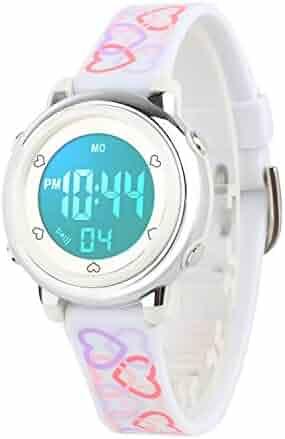 Kids Digital Watch, Boys Sports Waterproof Led Watches Kids Watches with Alarm Wrist Watches for Boy Girls Children White