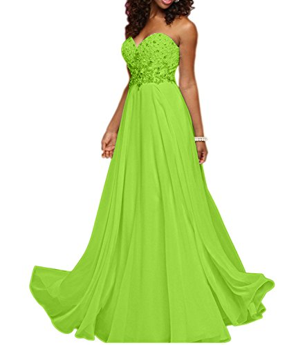 mia Herzausschnitt Gruen Lang Abendkleider La Linie Traegerlos Ballkleider Braut Apfel Elegant A Partykleider Brautmutterkleider RfxHqd